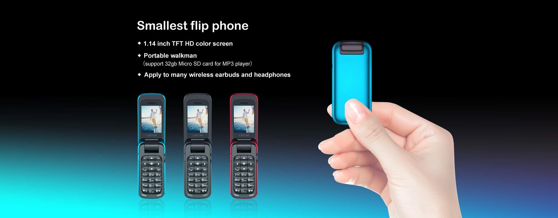 BM60 Mini Flip Music Phone